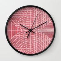 Robotic Boobs Red Wall Clock