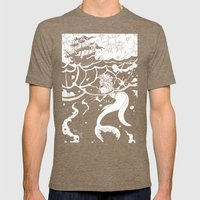 The Little Mermaid Mens Fitted Tee Tri-Coffee SMALL