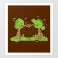 Treenagers Art Print