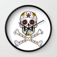 Sugar Skull & Cross Bones Wall Clock