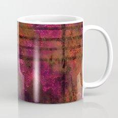 Lined Rainbow Rusted Metal Look Mug
