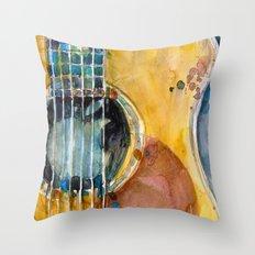 When Apple Meets Acousti… Throw Pillow