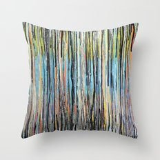 Flowing Lines Throw Pillow
