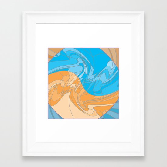 Betumbled Framed Art Print