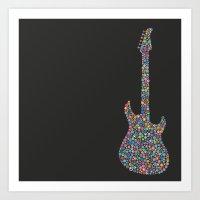 guitar / guitarra Art Print