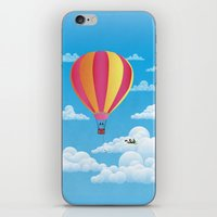 Picnic In A Balloon On A… iPhone & iPod Skin