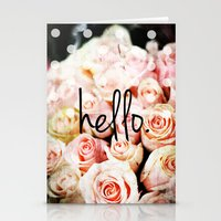 Hello Roses Stationery Cards