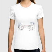 String Games Womens Fitted Tee White SMALL