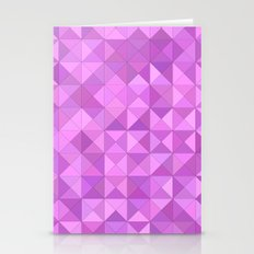 Pink triangles Stationery Cards