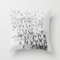 Typography And  The Blac… Throw Pillow
