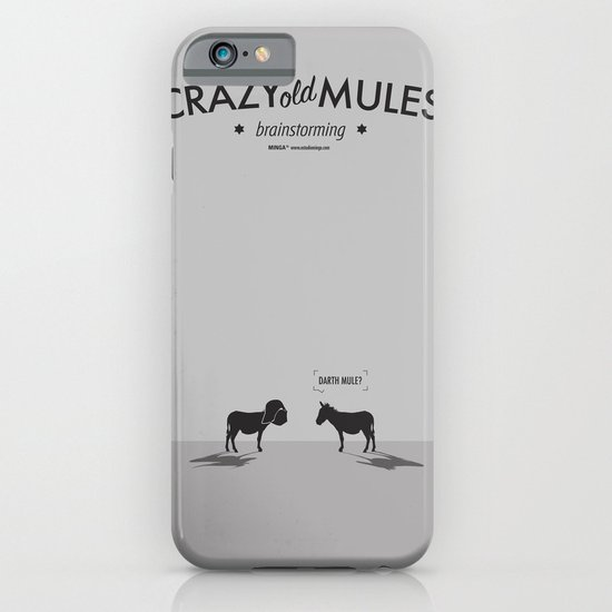 Crazy old Mule / Darth Mule iPhone & iPod Case