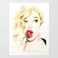 Strawberry. Scarlet Joha… Art Print