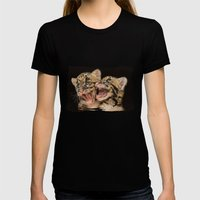 CLOUDED LEOPARD CUBS LOV… Womens Fitted Tee Black SMALL