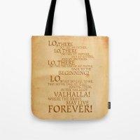 Viking Prayer Tote Bag