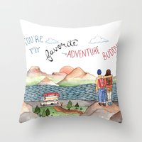 Adventure Buddy Throw Pillow
