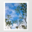 Cloud flowers Art Print