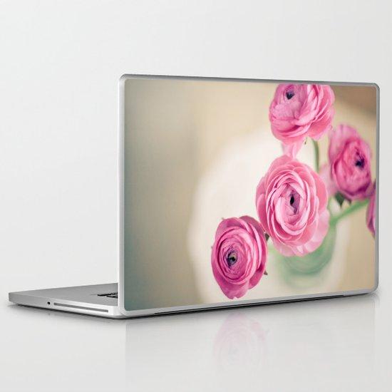 Ranunculus in Morning Light Laptop & iPad Skin