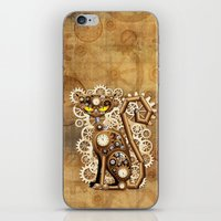 Steampunk Cat Vintage Style iPhone & iPod Skin
