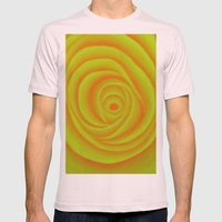 Yellow Rose Mens Fitted Tee Light Pink SMALL