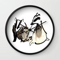 Badger Couple Wall Clock