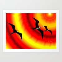 Frigatebirds Sunward Bou… Art Print