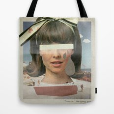 Tears In The Typing Pool | Collage Tote Bag