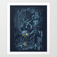 Defender of the Deep  Art Print