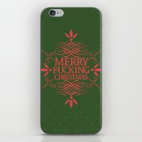 Merry Effin Christmas iPhone & iPod Skin