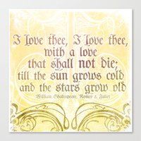 I Love Thee, I Love Thee… Canvas Print