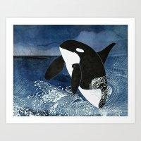 Killer Whale Orca Art Print
