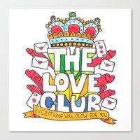 The Love Club Canvas Print