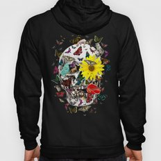Skull Flowers Animals on MINT | Butterflies Hoody