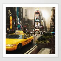 Rainy Day in New York Art Print