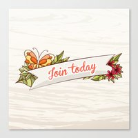 Join Today! Canvas Print