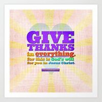 Give Thanks In Everythin… Art Print