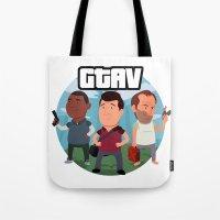 Grand Theft Auto V Cartoon Tote Bag