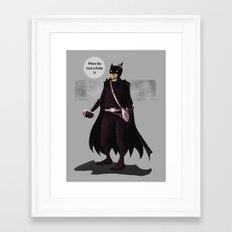 Hey Kitty Bat Framed Art Print