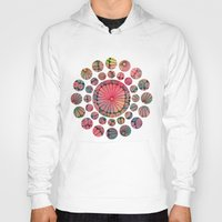 Abstract Floral Circles Hoody