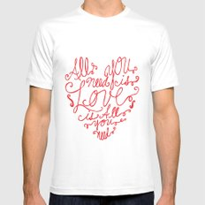 All you need is love Mens Fitted Tee SMALL White
