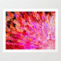 SEA SCALES IN PINK - Hot… Art Print