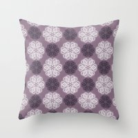 PAISLEYSCOPE posh (purple) Throw Pillow