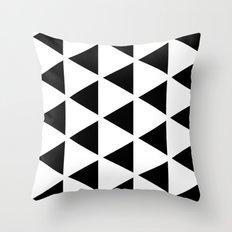 Sleyer Black on White Pattern Throw Pillow