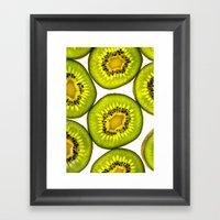 Kiwi Fruit Framed Art Print