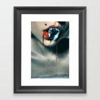 Blood Diamond Framed Art Print