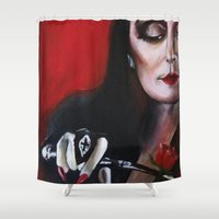 Morticia Addams Shower Curtain