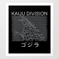 Kaiju Division Art Print