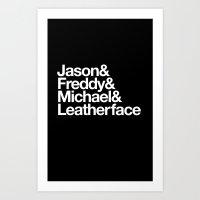 Slashers Art Print