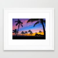 Hawaii Palm trees Framed Art Print