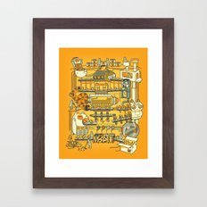 Meow Remix Framed Art Print