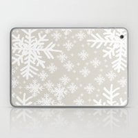 Grey Snowflake Design Laptop & iPad Skin